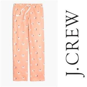 J Crew Llama Pajama Pants